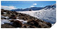 The beauty of snow on mountain,, Print