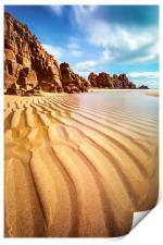 Sand Pand Patterns at Pedn Vounder, Print