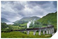 Jacobite Express crossing Glenfinnan Viaduct, Print
