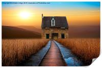 the little brick House , Print