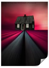 The little black house , Print