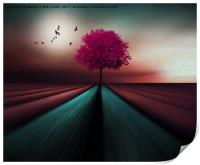 The Little Pink Tree , Print