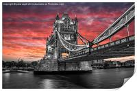 Tower Bridge, Print