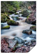 Wyming Brook waterfall, Print
