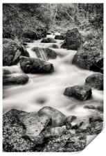 Wyming Brook waterfall, Print