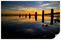 Low tide reflections, Print