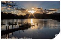 Last Light Over Derwentwater, Print