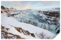 Gullfoss Waterfall, Iceland, Print