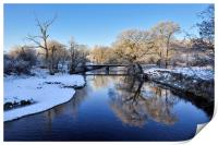 River Etherow in winter, Print