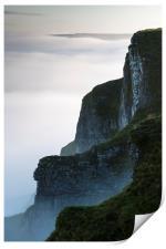Above the mist at Winnats Pass, Print