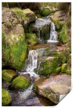 Rocky moorland stream in the Peak District, Print