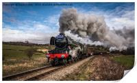Flying Scotsman heading up Esk Valley, Print