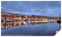 The blue hour at Whitby, Print