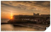 Sun rising over the Abbey, Print