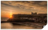 Sun rising over the Abbey, Print