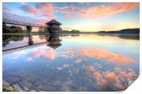 Cropston Reservoir Sunset, Leicestershire , Print