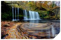 Sgwd Ddwli Uchaf - Waterfall, Wales, Print