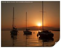 Boats on the med sunset, Print