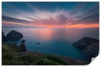 Cornish Coast, Print