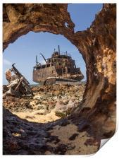 Klien Curacao - ship wreck, Print