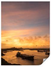 Curacao views, Print