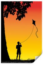 Childhood dreams, The Kite, Print