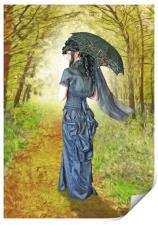A woodland stroll, Print