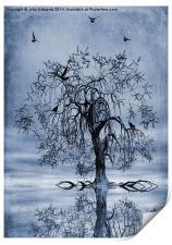 The Wishing Tree Cyanotype, Print