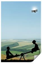 Childhood Dreams, The Seesaw, Print