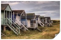 Old Hunstanton Beach Huts, North Norfolk, UK, Print