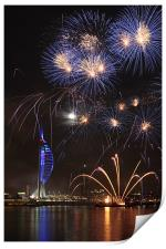 Spinnaker Tower fireworks, Print