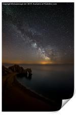 Milky Way over Durdle Door, Print