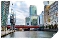 Train Into Canary Wharf, Print