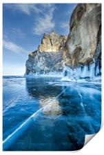Blue Ice of the Lake Baikal, Print