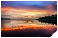 Sunset Symmetry, Print