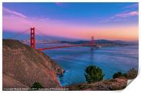 Golden Gate Bridge & the San Francisco Bay, Print