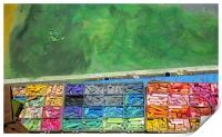 Chalk colors and abstract, Print