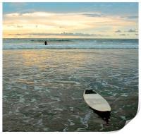 Playa Tamarindo, Costa Rica,  Surf and Sunset, Print