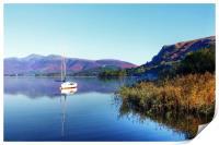 Boat at Derwent Water, Print