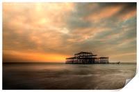 Brighton Pier Sunset  , Print