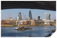 London Skyline and the River Thames, Print