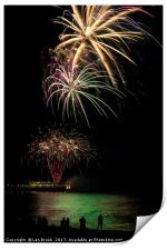 Fireworks from Worthing Pier, Print