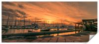 Sunset at the Rubicon, Print