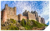 A different view of Bamburgh Castle, Print