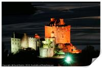 Eilean Donan Castle at night, Print