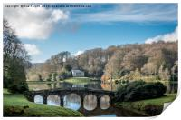The lake at Stourhead, Print