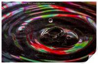 water drop ripples, Print