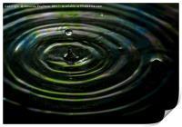 water drop, Print