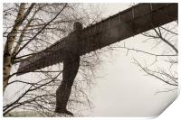 Angel of the North in the snow, Print