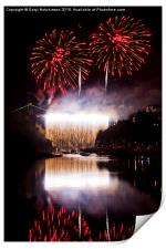 Clifton Suspension Bridge 150th Anniversary firewo, Print